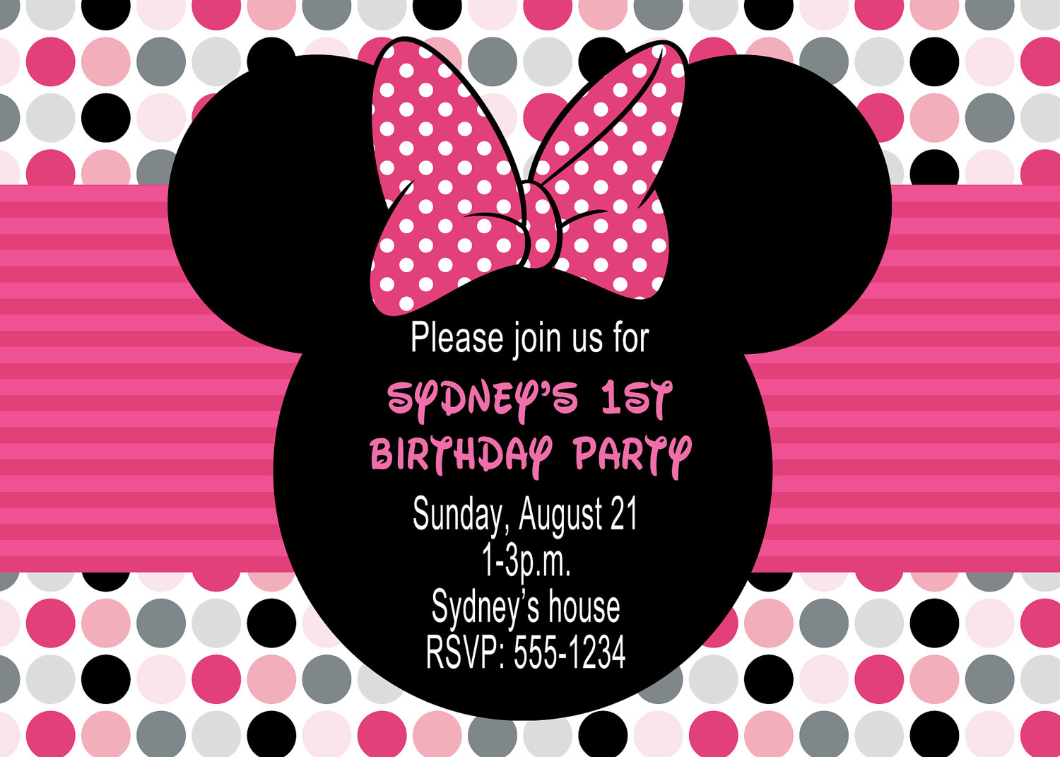 birthday invitation minnie mouse theme ; birthday-invitations-retro-style-minnie-mouse-custom-birthday-party-invitation-sweet-mouse-birthday-invitations