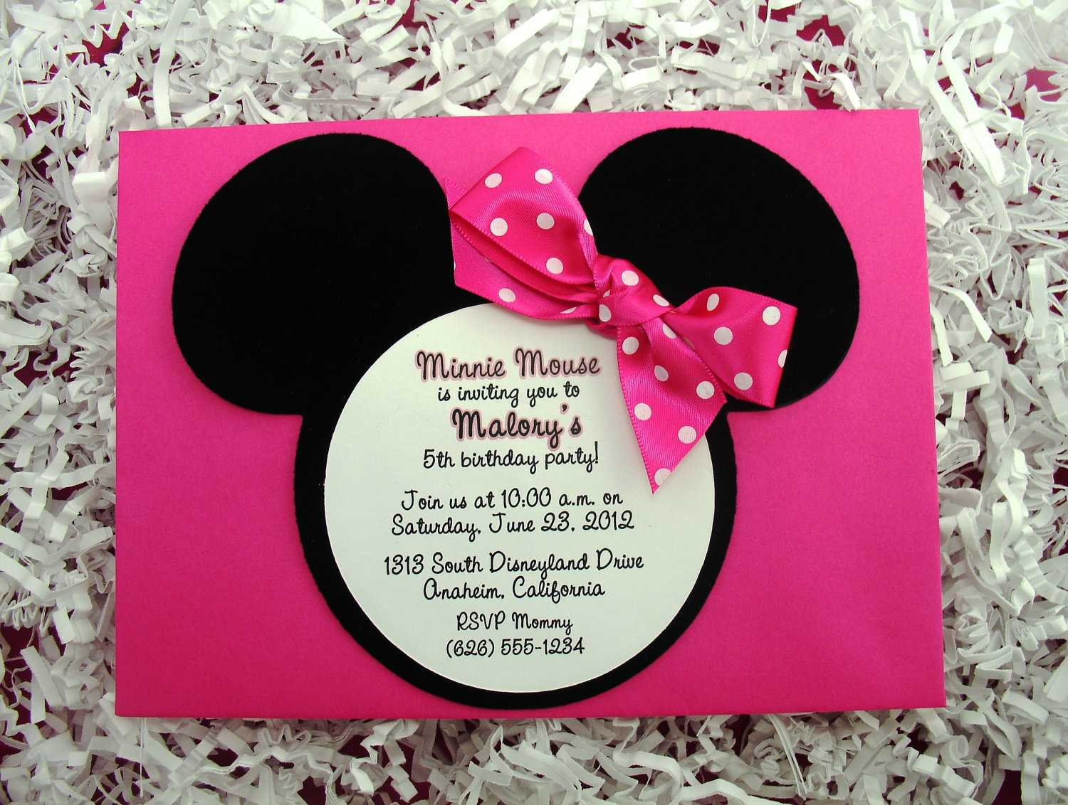 birthday invitation minnie mouse theme ; d1127b4ca895ae2929b2d6e66f9d5c6f