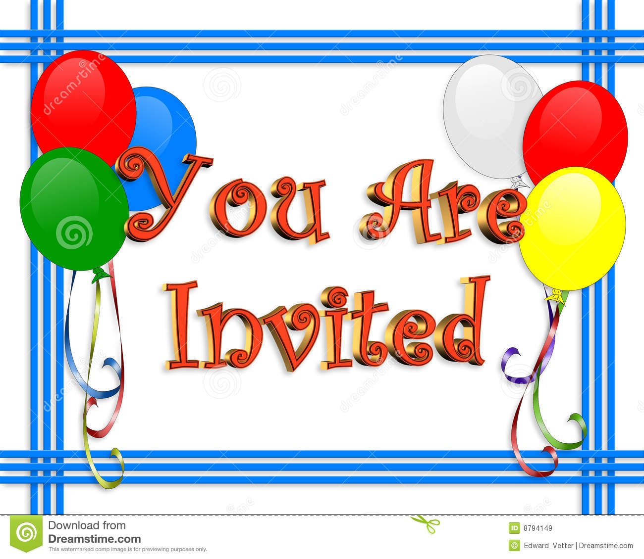 birthday invitation pictures images ; birthday-invitation-balloons-border-8794149