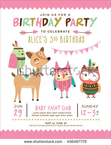 birthday invitation pictures images ; stock-vector-kids-birthday-invitation-card-with-cute-cartoon-animal-450467770