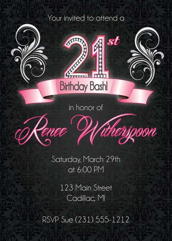 birthday invitation poster ; 21St-Birthday-Invitations-mixed-with-your-creativity-will-make-this-looks-awesome-2