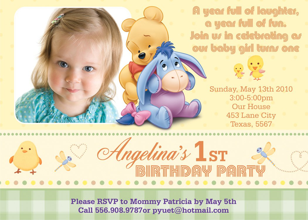 birthday invitation quotes for 3 year old ; winnie3