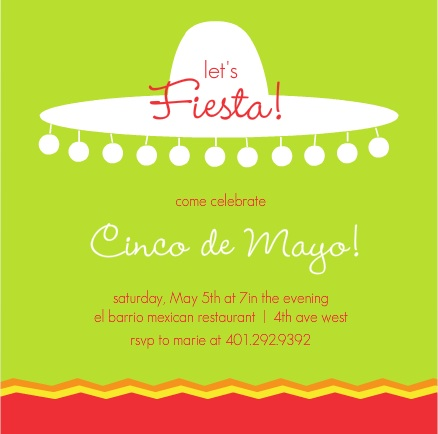 birthday invitation taglines ; Mexican-Sombrero-Party-Invite