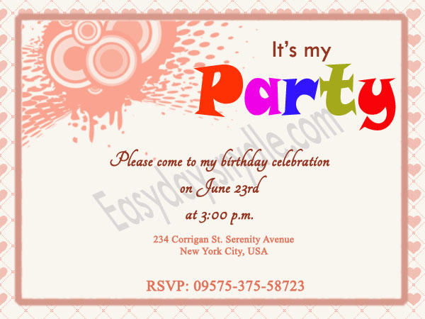 birthday invitation taglines ; birthday-invitation-samples