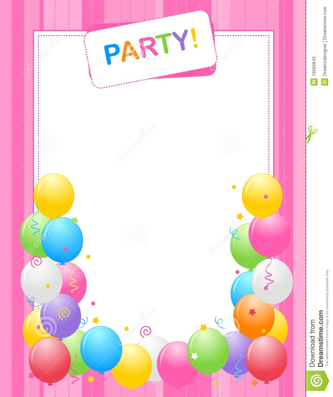birthday invitation wallpaper ; nice-party-invitation-card-template-as-different-article