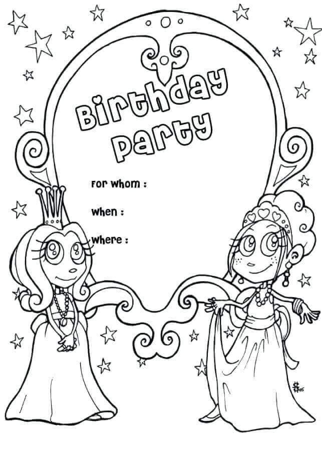 birthday invitations coloring pages ; Printable-Birthday-Invites-Coloring-Pages
