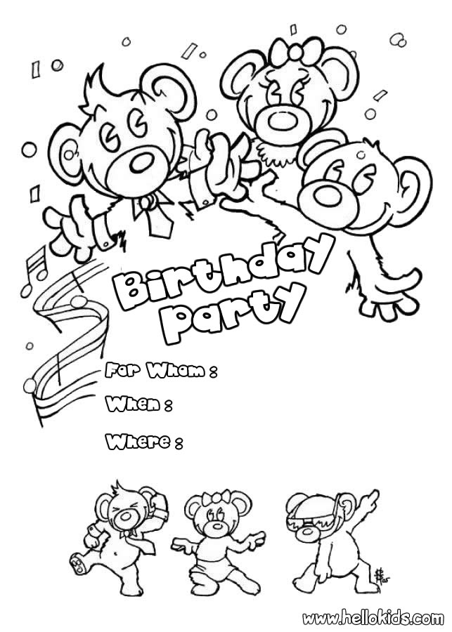 birthday invitations coloring pages ; b1f665f35816e61436ffcc6e63472974