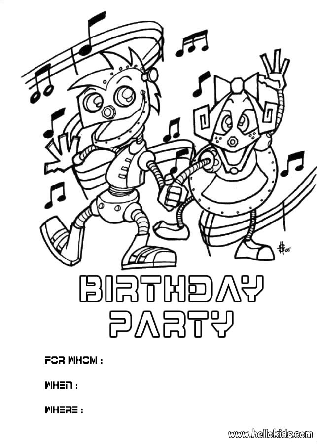 birthday invitations coloring pages ; birthday-party-invitation-coloring-pages_228633