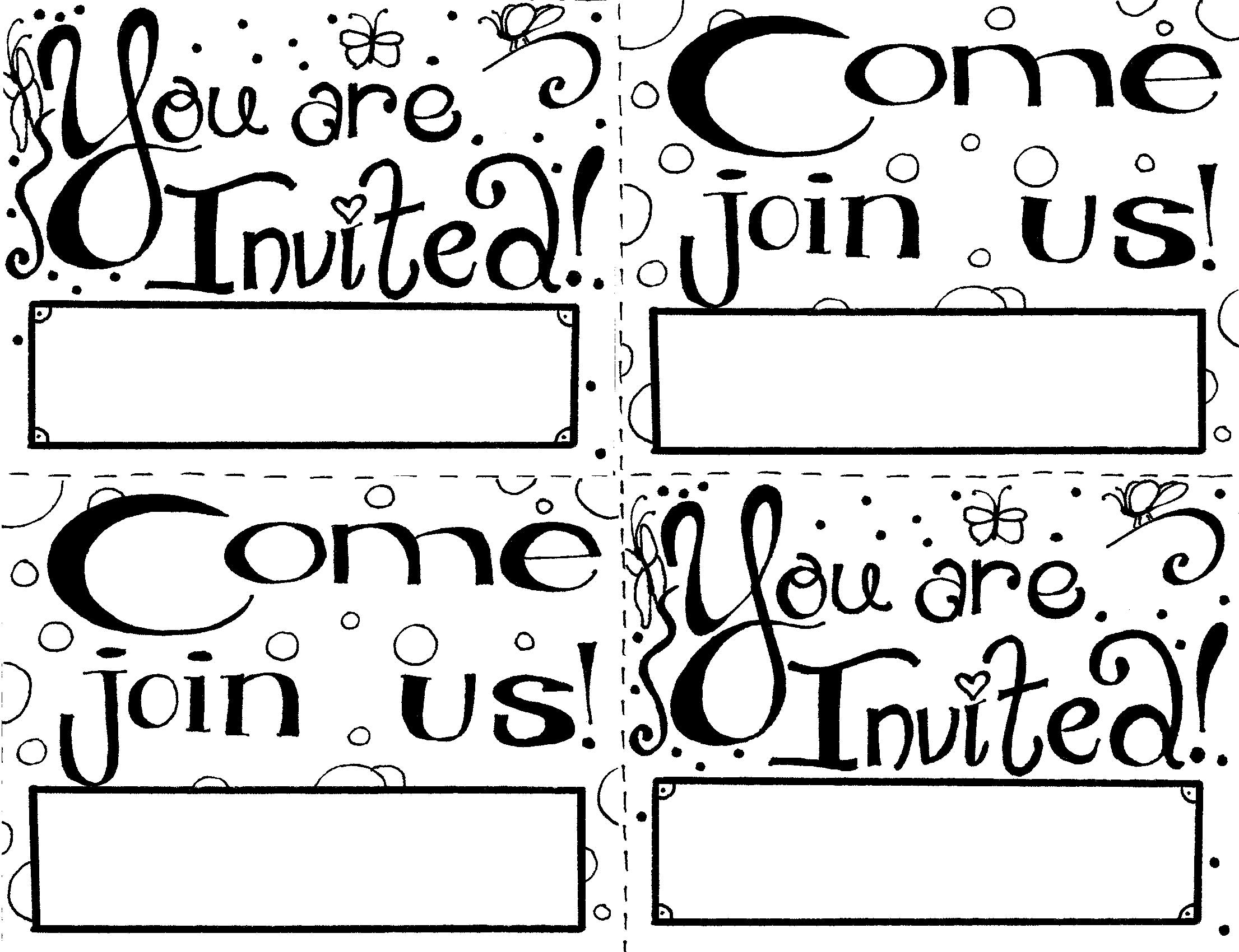 birthday invitations coloring pages ; invitation1