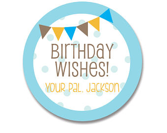 birthday label stickers ; il_340x270