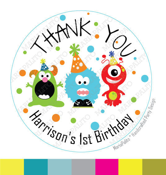 birthday label stickers ; il_570xN