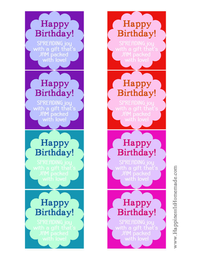 birthday labels ; Printable-Happy-Birthday-Jam-and-Jelly-Labels
