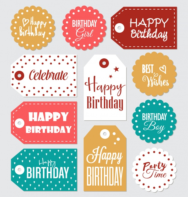 birthday labels ; birthday-labels-collection_1324-81
