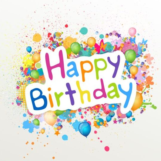 birthday labels free ; Happy-birthday-label-with-colored-grunge-vector
