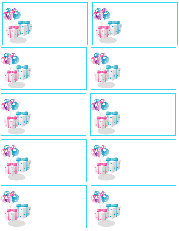 birthday labels template free ; 42addresslabels12