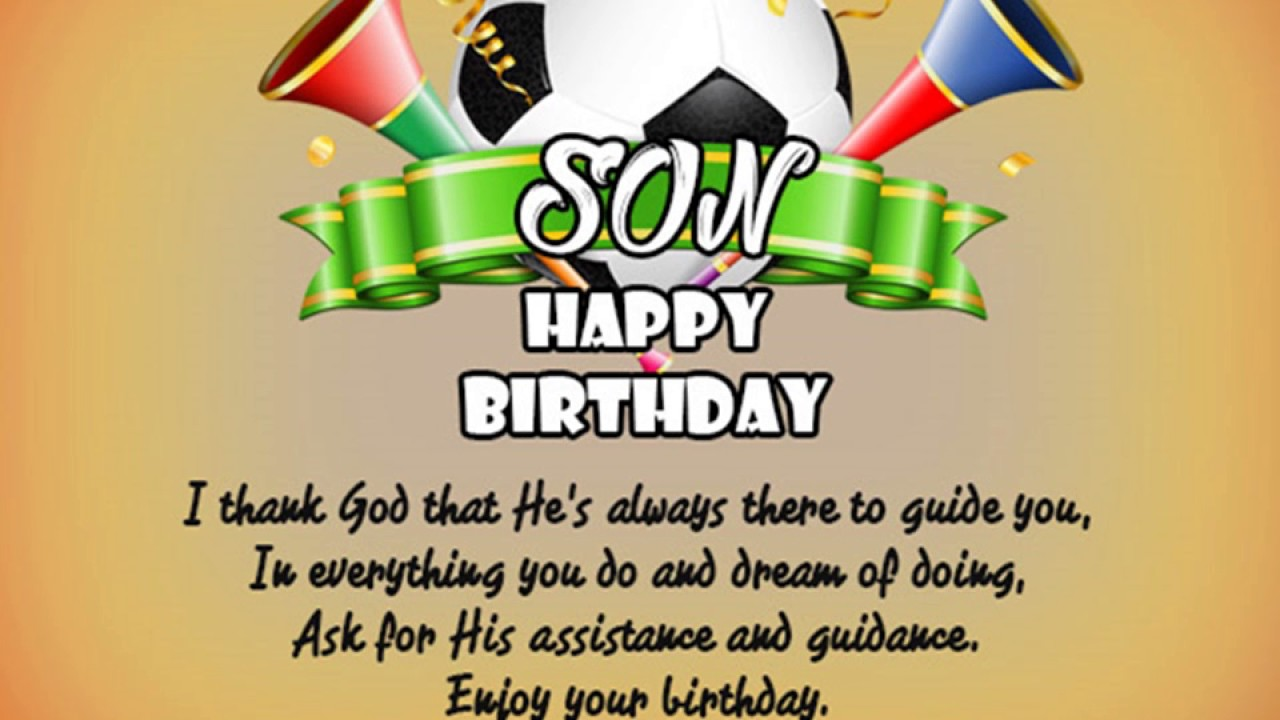 birthday message for a son with pictures ; maxresdefault