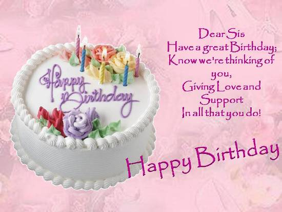 birthday message for sister with picture ; 303326