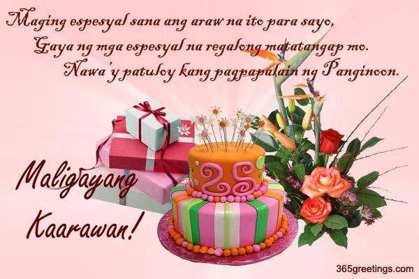 birthday message quotes tagalog ; birthday_10