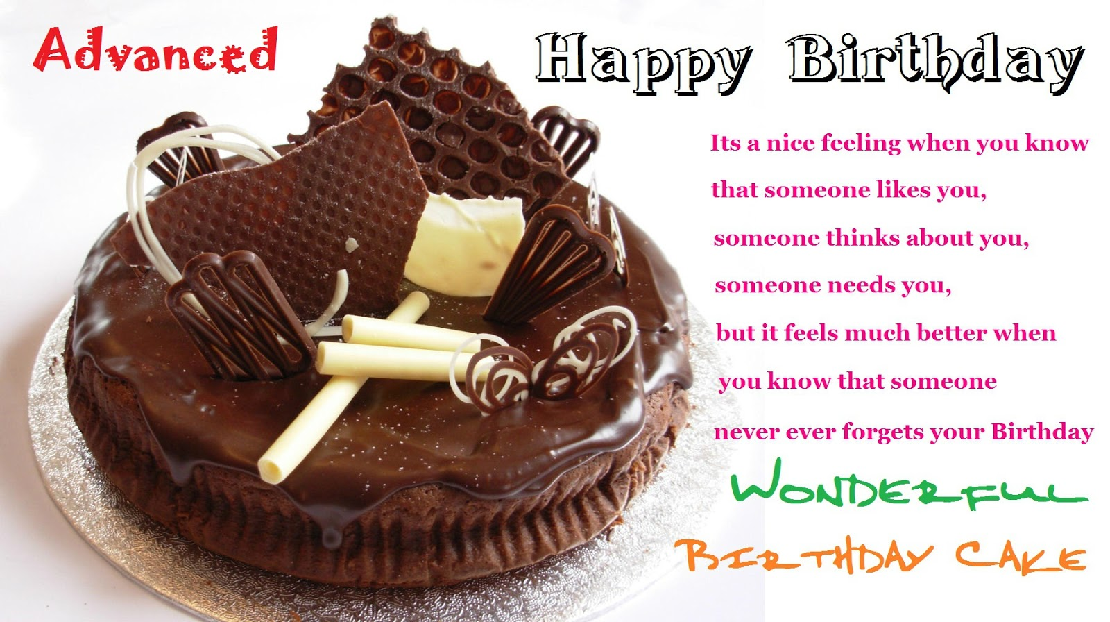 birthday message with cake picture ; Happy+Birthday+Wishes+Messages+Cards+-+93