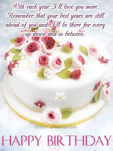 birthday message with cake picture ; Wonderful-Message-Of-Love-With-Cake