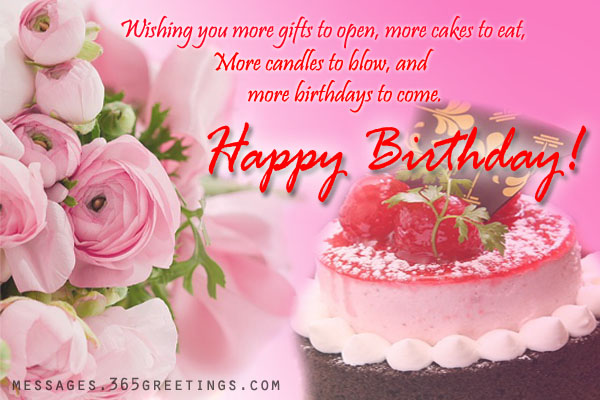 birthday message with cake picture ; birthday-wishes-messages