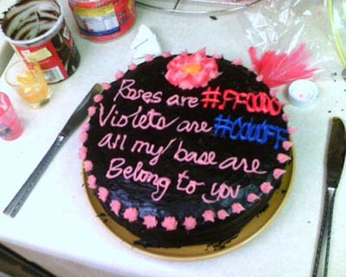 birthday message with cake picture ; cake-geek