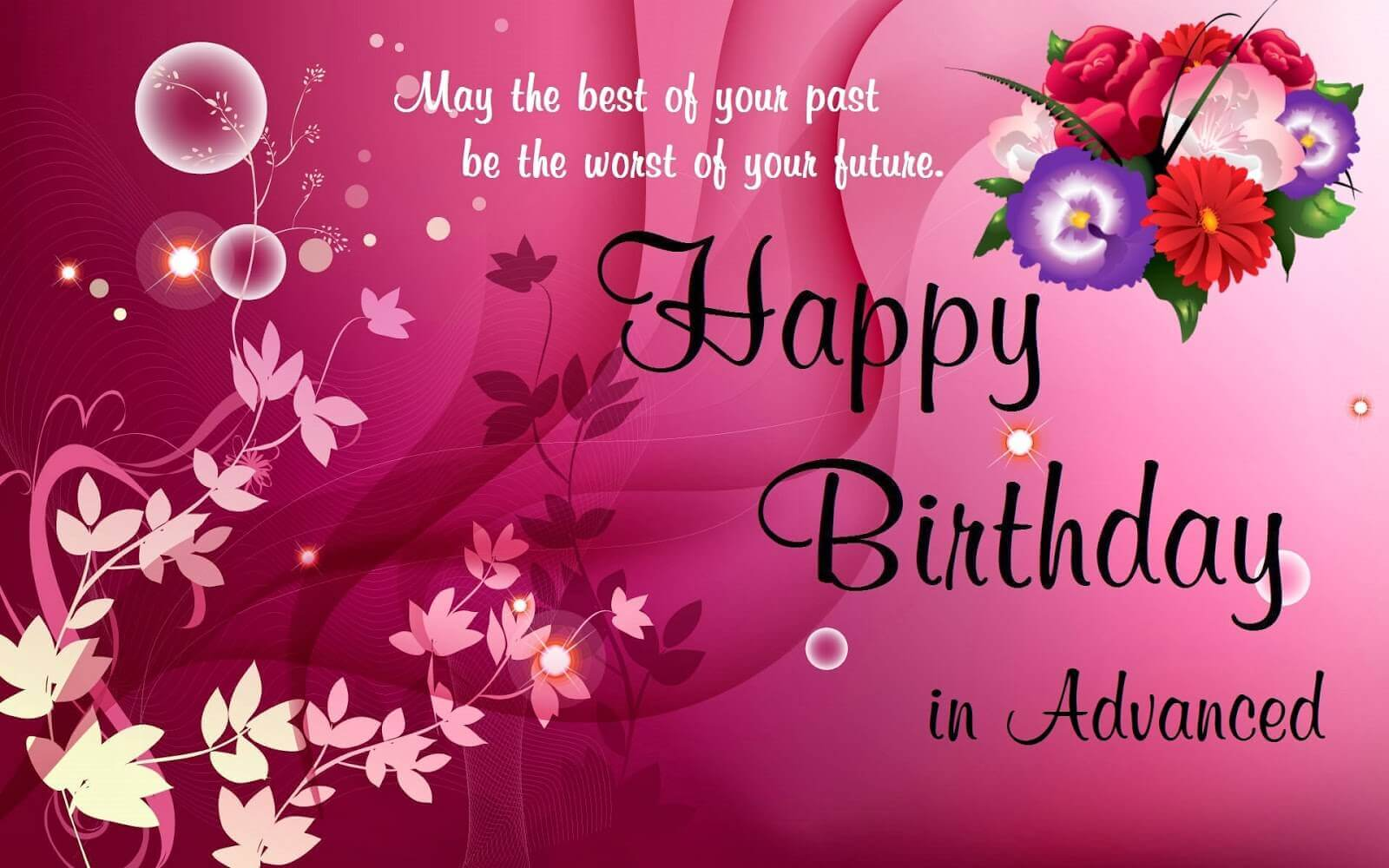 birthday messages and pictures ; advance-happy-birthday-wishes