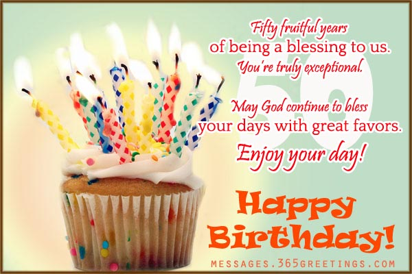 birthday messages and wishes ; fiftieth-birthday-messages-50th-birthday-wishes-and-messages-365greetings