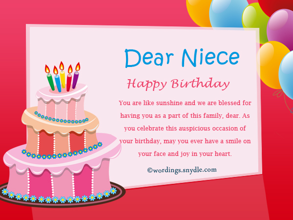 birthday messages and wishes ; happy-birthday-niece-messages