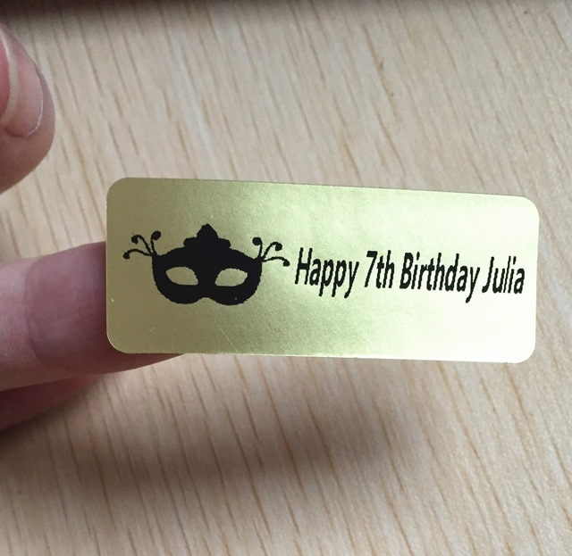 birthday name labels ; 60-pieces-46-18mm-kids-happy-birthday-party-wedding-customize-Plain-gold-personalised-name-label-return