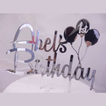 birthday name signs ; fwl-cake-topper-personalised-birthday-name-2-lines-balloons-au
