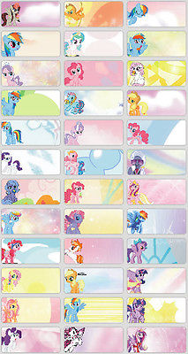 birthday name sticker ; You-decide-120pcs-My-little-Pony-pics-personalised-name-sticker-Small-size-kids-birthday-party-return