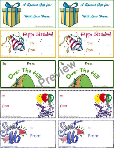 birthday name tags printable ; combo-pack-preview