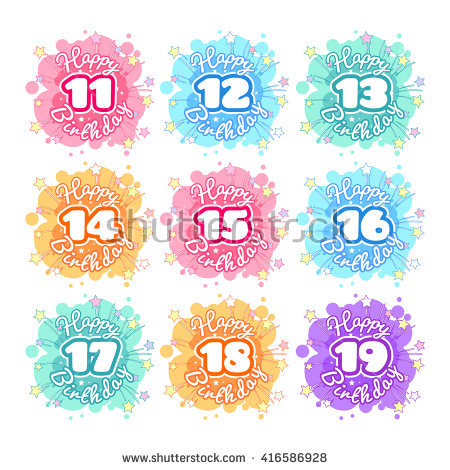 birthday number stickers ; stock-vector-set-of-colorful-stickers-with-different-numbers-logo-template-for-happy-birthday-vector-cartoon-416586928