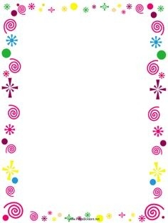 birthday page borders for microsoft word ; a-page-border-featuring-handprints-in-different-colors-free-with-free-printable-border-designs-for-paper-colored