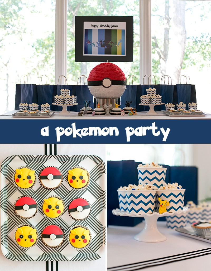 birthday party activities ; pokemon-party-feature