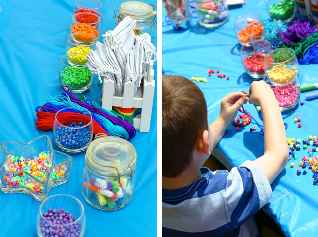 birthday party activities for 6 year olds ; rainbow-party-activities-6