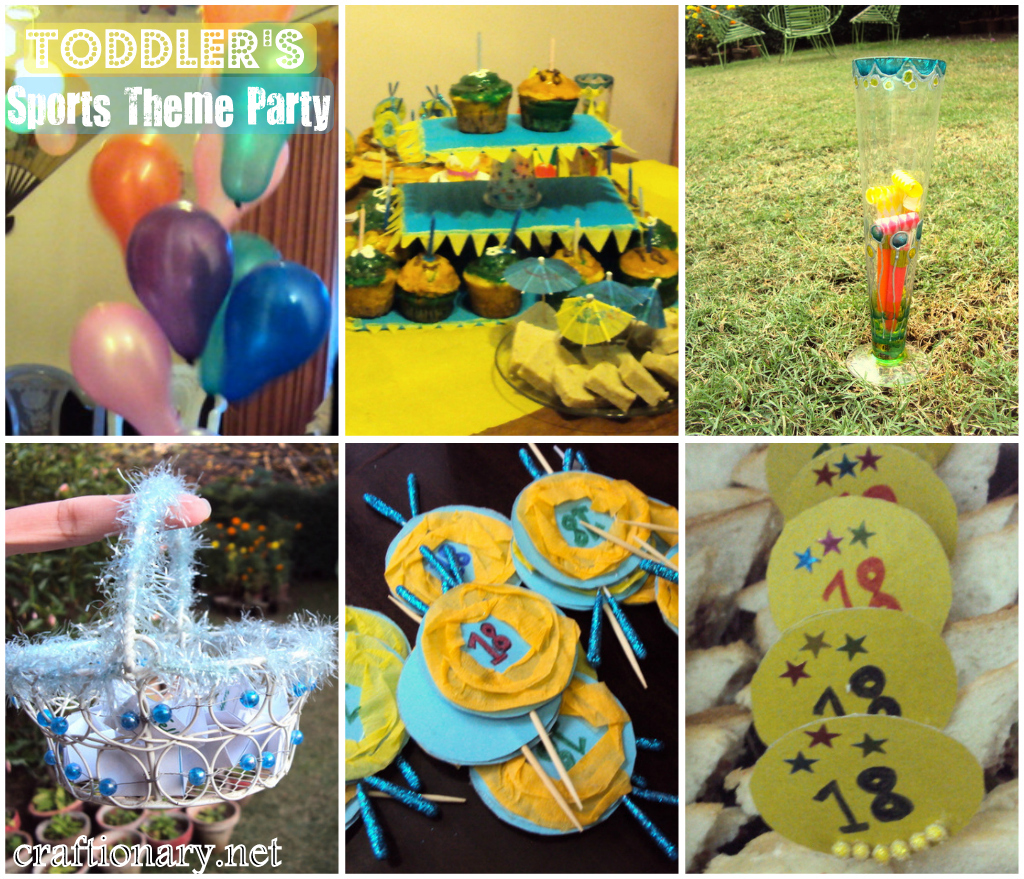 birthday party activities for toddlers ; sports-theme-party-toddler-kids