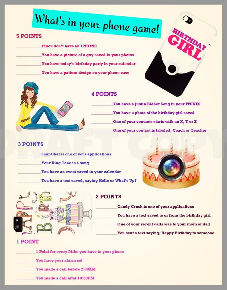 birthday party activities for tweens ; 797db110ee1341bb43fb0491b814ba8f