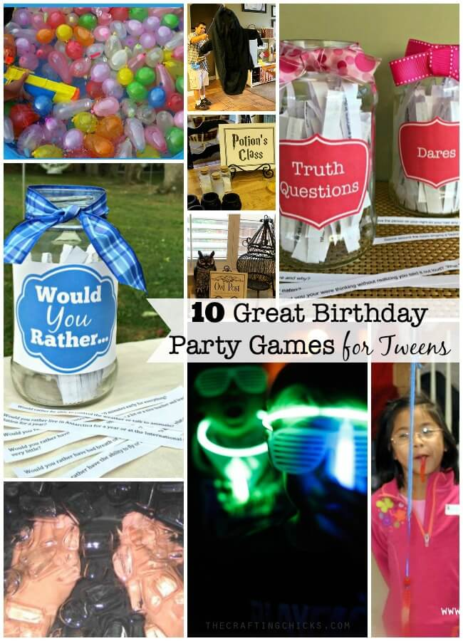 birthday party activities for tweens ; BD-Party-Collage