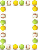birthday party borders for invitations ; ball+boarder
