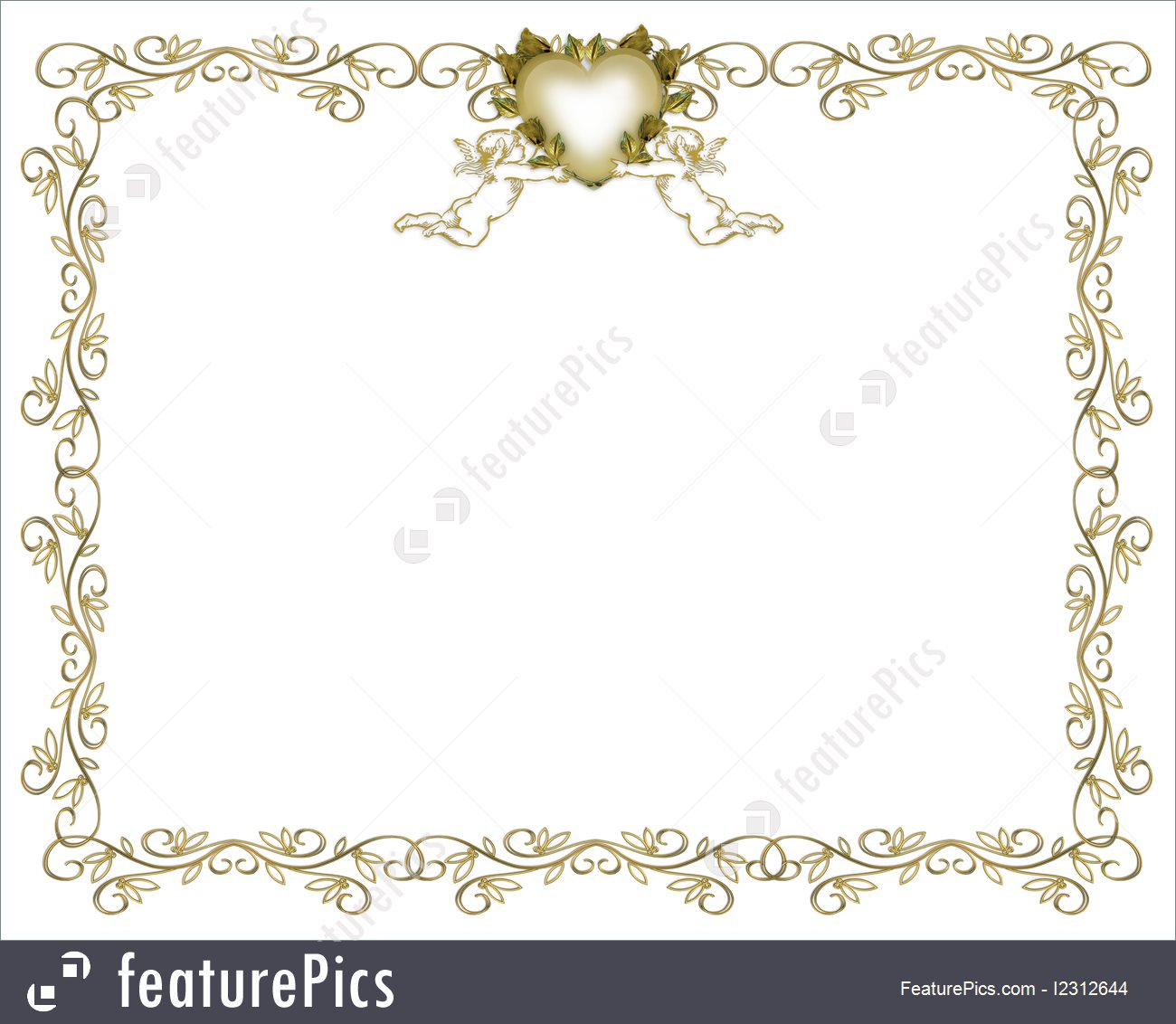 birthday party borders for invitations ; wedding-invitation-stock-illustration-1312644