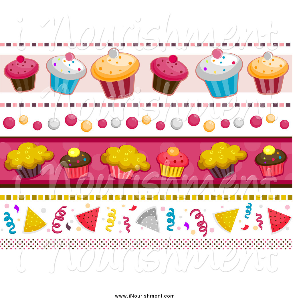 birthday party clip art borders ; clipart-of-a-birthday-themed-cupcake-and-party-borders-by-bnp-design-studio-3724