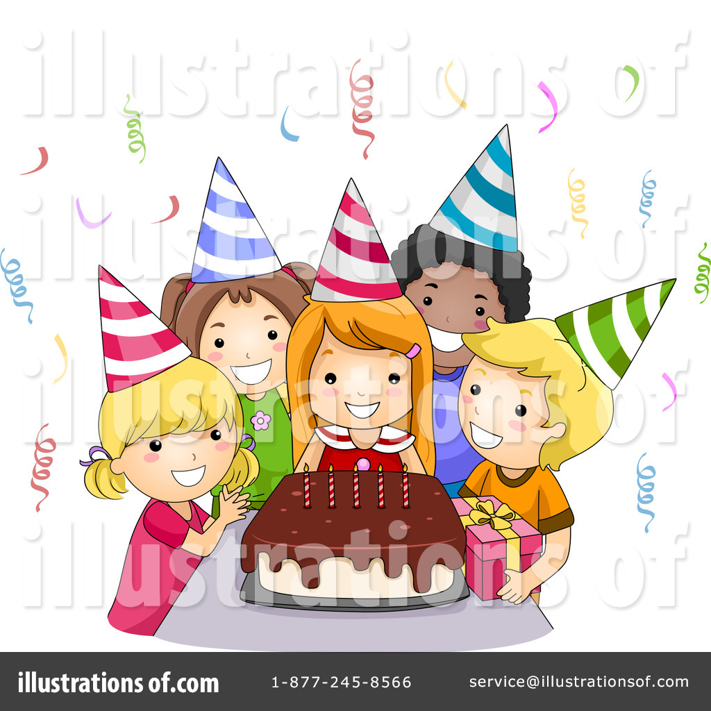 birthday party clipart ; girls-birthday-party-clipart-4