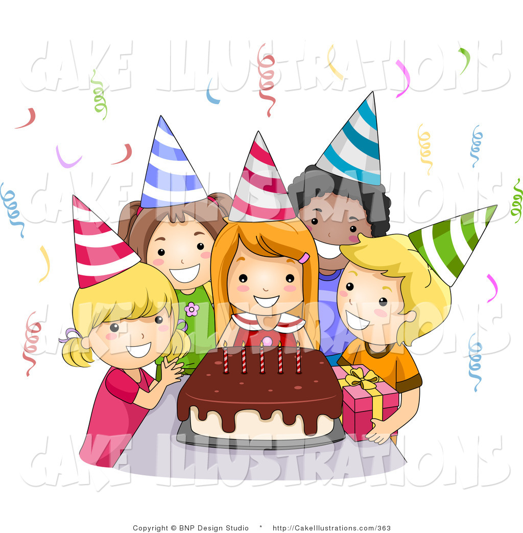 birthday party clipart ; girly-birthday-party-clipart-1