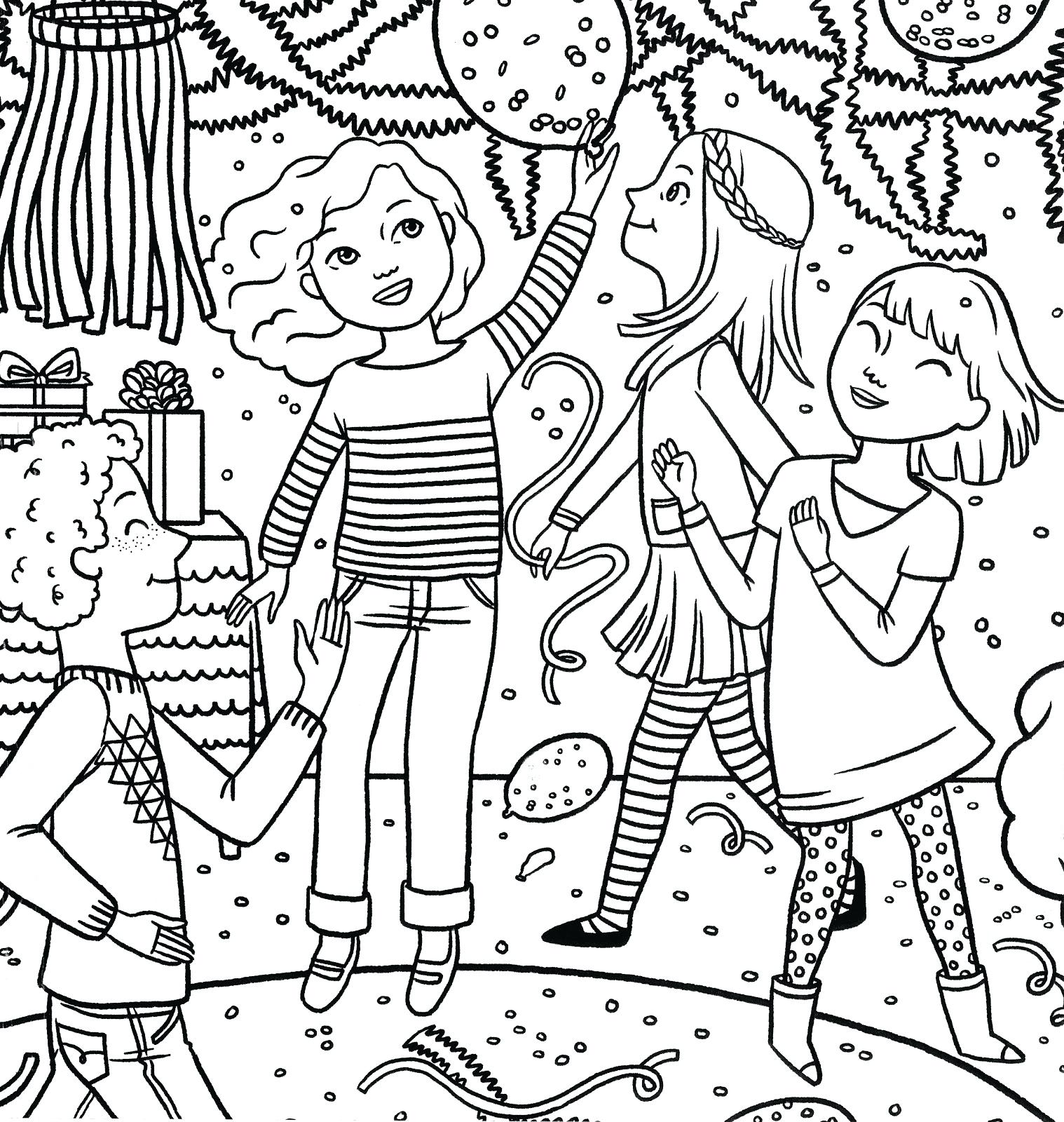 birthday party coloring ; birthday-party-coloring-pages-finds-girl-magazine-special-page-construction
