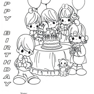 birthday party coloring pages ; Happy-Birthday-Party-Coloring-Page-300x300