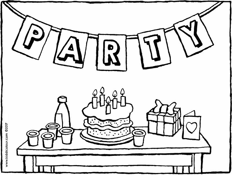 birthday party coloring pages ; are-you-coming-to-my-birthday-party-coloring-page-01k