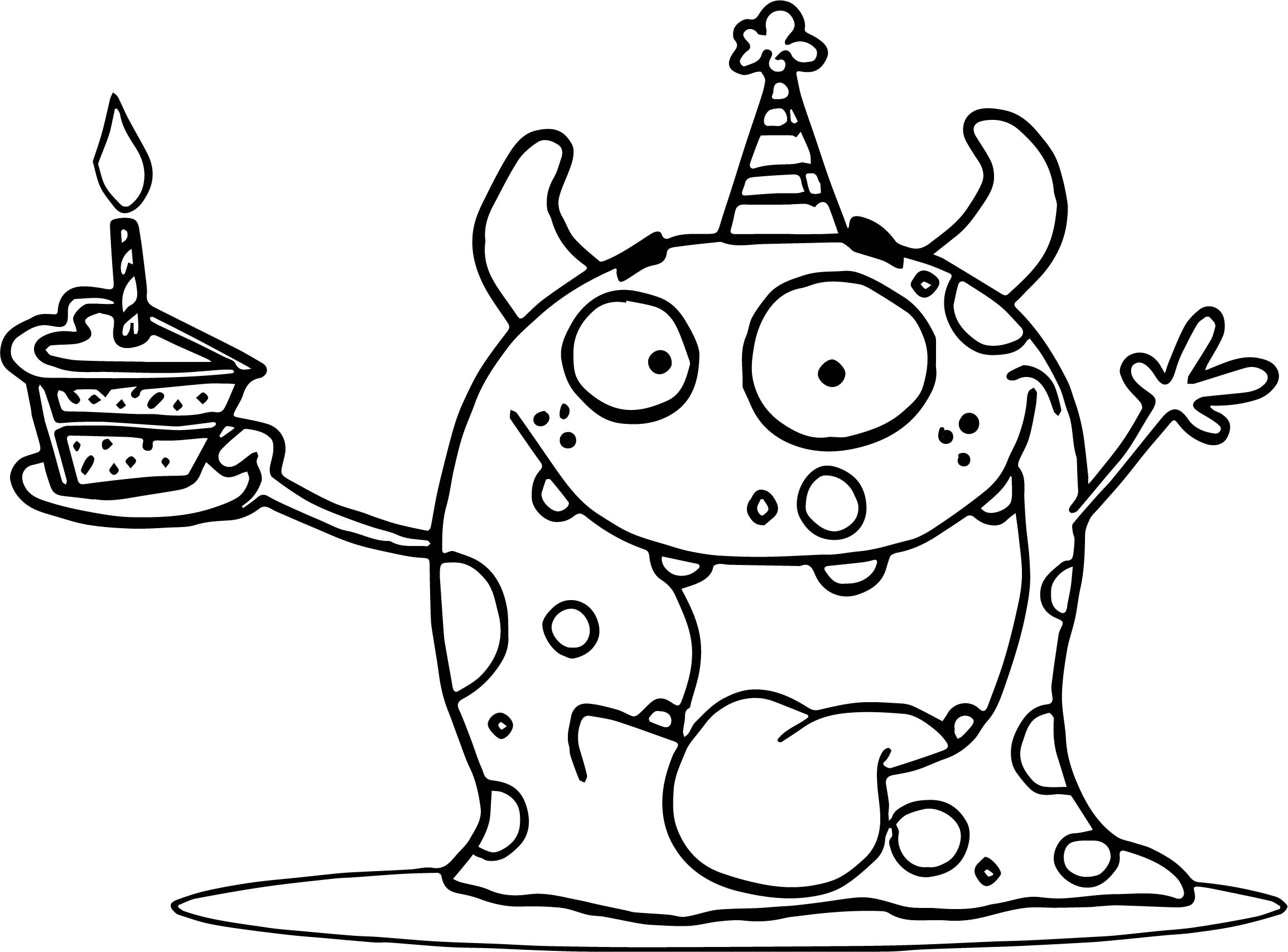 birthday party coloring sheets ; Weaver-Party-Animal-Monster-At-A-Birthday-Party-With-A-Piece-Of-Cake-Coloring-Page