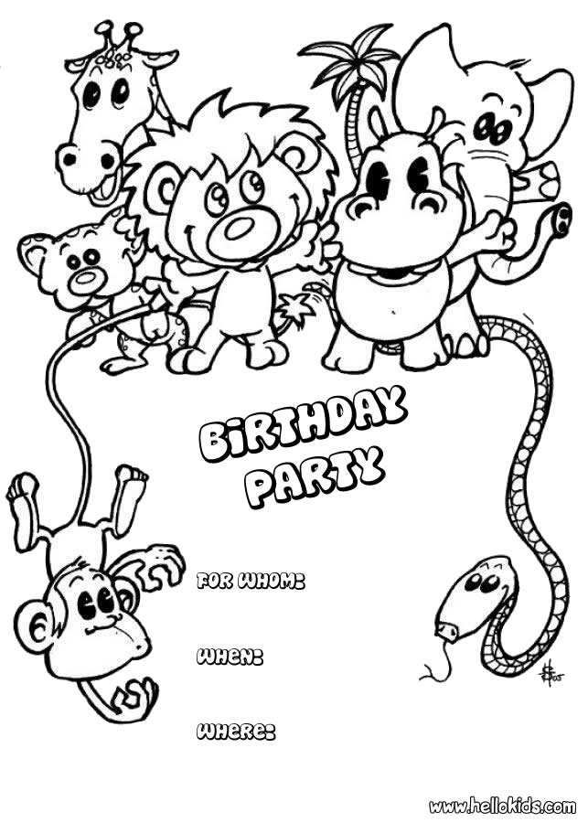 birthday party coloring sheets ; animal-birthday-invitation-source_tq1